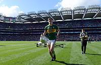 17-1-2017: Outstanding performance by Four goal hero, Team Captain and Man of the Match, David Clifford from Fossa Killarney with the Tommy Markem Cup following Kerry's four-in-a-row All-Ireland titles  at Croke Park on Sunday.<br /> Photo: Don MacMonagle