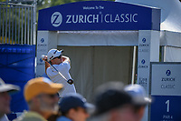 Martin Laird (SCO) watches his tee shot on 1 during Round 3 of the Zurich Classic of New Orl, TPC Louisiana, Avondale, Louisiana, USA. 4/28/2018.<br /> Picture: Golffile | Ken Murray<br /> <br /> <br /> All photo usage must carry mandatory copyright credit (&copy; Golffile | Ken Murray)