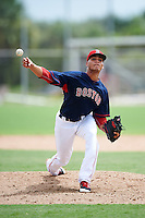 GCL Red Sox relief pitcher Francisco Soto (52) during the first game of a doubleheader against the GCL Rays on August 9, 2016 at JetBlue Park in Fort Myers, Florida.  GCL Rays defeated GCL Red Sox 5-4.  (Mike Janes/Four Seam Images)