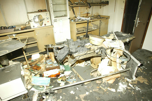 The operating theatre aboard Saddam Hussein's luxury yacht the al Mansur. The yacht was bombed while moored in Basra, southern Iraq.