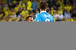 09.08.2019, Merkur Spiel-Arena, Düsseldorf, GER, DFB Pokal, 1. Hauptrunde, KFC Uerdingen vs Borussia Dortmund , DFB REGULATIONS PROHIBIT ANY USE OF PHOTOGRAPHS AS IMAGE SEQUENCES AND/OR QUASI-VIDEO<br /> <br /> im Bild | picture shows:<br /> Paco Alcacer (Borussia Dortmund #9) enttaeuscht nach guter Moeglichkeit, <br /> <br /> Foto © nordphoto / Rauch