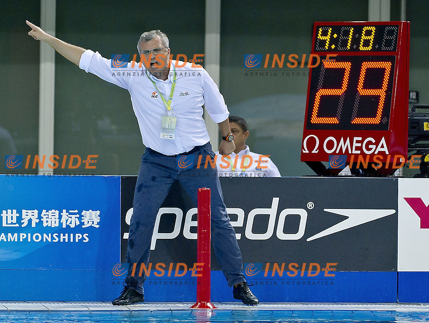 Shanghai , China (CHN) 16-31 July 2001.XIV FINA Swimming World Championships.day 15.Men's Water Polo.Final Gold.Serbia SRB white cap Vs. Italy ITA Blue cap.Italy won the World Champion Title 2011.Photo Insidefoto / Giorgio Scala
