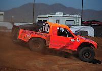 Apr 16, 2011; Surprise, AZ USA; LOORRS driver Adrian Cenni (11) during round 3 at Speedworld Off Road Park. Mandatory Credit: Mark J. Rebilas-.