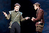 Rosencrantz &amp; Guildenstern Are Dead <br /> by Tom Stoppard <br /> at The Old Vic, London, Great Britain <br /> press photocall <br /> 3rd March 2016 <br /> EMBARGOED UNTIL 12 NOON ON MONDAY 6TH MARCH 2017 <br /> Josh McGuire as Guildenstern <br /> Daniel Radcliffe as Rosencrantz <br /> <br /> <br /> <br /> <br /> Photograph by Elliott Franks <br /> Image licensed to Elliott Franks Photography Services