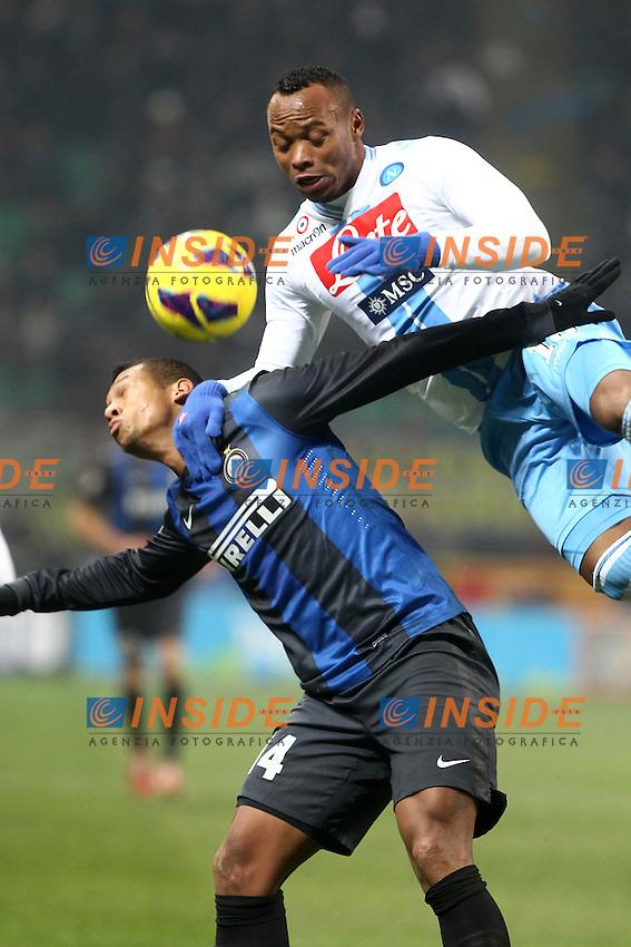 """Fredy Guarin Inter Juan Camilo Zuniga Napoli.Milano 09/12/2012 Stadio """"San Siro"""".Football Calcio Serie A 2012/13.Inter v Napoli.Foto Insidefoto Paolo Nucci."""