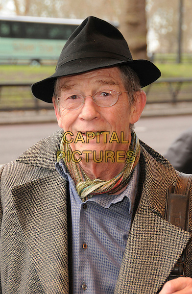 JOHN HURT <br /> Attending The South Bank Show Awards, The Dorchester Hotel, London, England, January 20th 2009.<br /> portrait headshot black hat glasses green scarf <br /> CAP/CAS<br /> &copy;Bob Cass/Capital Pictures
