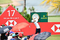 SINGAPORE - MARCH 03: Sung Hyun Park of South Korea reaction on the 17th tee during the final round of the HSBC Women's World Championship 2019 at Sentosa Golf Club - Tanjong Course, Singapore on March 03, 2019.<br /> .<br /> .<br /> .<br /> (Photo by: Naratip Golf Srisupab/SEALs Sports Images)<br /> .<br /> Any image use must include a mandatory credit line adjacent to the content which should read: Naratip Golf Srisupab/SEALs Sports Images