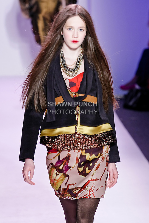 Sidney walks the runway in an outfit by Thuy Diep, for her Thuy Fall Winter 2010 collection fashion show, during Mercedes-Benz Fashion Week Fall 2010.