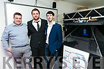 "HORIZON EXHIBIT End of Year Creative Media exhibition at the Education Centre IT Tralee on Thursday. Pictured Dean Kelly, Keith Doran, BA in Music Technology, Tadhg Flynn, BA in TV Radio &New Media with their project ""Halo'"