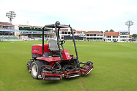 General view of a lawnmower ahead of Kent Spitfires vs Essex Eagles, Royal London One-Day Cup Cricket at the St Lawrence Ground on 17th May 2017