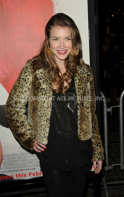 WWW.ACEPIXS.COM . . . . . ....February 1 2011, Los Angeles....Actress Nathalia Ramos arriving at the Los Angeles Premiere of 'Waiting For Forever' at the Pacific Theatres at The Grove on February 1, 2011 in Los Angeles, CA ....Please byline: PETER WEST - ACEPIXS.COM....Ace Pictures, Inc:  ..(212) 243-8787 or (646) 679 0430..e-mail: picturedesk@acepixs.com..web: http://www.acepixs.com