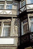Limberg: Fachwerk, carving detail. Photo '87.
