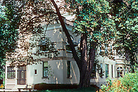 "Pittsburgh: Henry Clay Frick's ""Clayton"" seen through the trees. Frick's daughter, Helen, lived here until her death in 1984. Photo 2001."