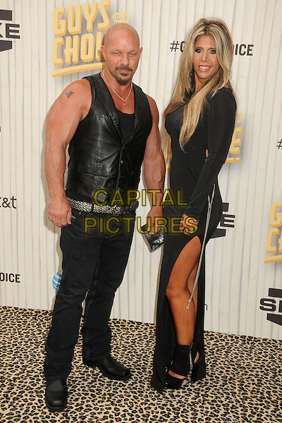 Todd Howard, Randye Howard<br /> 2013 Spike TV Guys Choice Awards held at Sony Pictures Studios, Culver City, California, USA, <br /> 8th June 2013.<br /> full length leather gilet sleeveless waistcoat dress slit split couple husband wife <br /> CAP/ADM/BP<br /> &copy;Byron Purvis/AdMedia/Capital Pictures