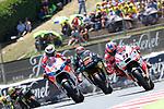 Gran Premi Monster Energy de Catalunya 2017.<br /> Moto GP Race.<br /> Jorge Lorenzo, Jonas Folger &amp; Danilo Petrucci.