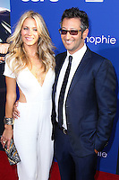 "HOLLYWOOD, LOS ANGELES, CA, USA - AUGUST 07: Sarah Greenfield, Luke Greenfield at the Los Angeles Premiere Of 20th Century Fox's ""Let's Be Cops"" held at ArcLight Cinemas Cinerama Dome on August 7, 2014 in Hollywood, Los Angeles, California, United States. (Photo by Xavier Collin/Celebrity Monitor)"