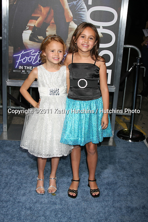 """LOS ANGELES - OCT 3:  Marcy Jones, Mary-Charles Jones (Blue Dress), arriving at the """"Footloose"""" Premiere at the Regency Village Theater on October 3, 2011 in Westwood, CA"""