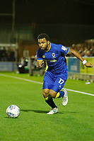 AFC Wimbledon's Andy Barchan and Milton Keynes' Callum Brittain chase the ball during the Sky Bet League 1 match between AFC Wimbledon and MK Dons at the Cherry Red Records Stadium, Kingston, England on 22 September 2017. Photo by Carlton Myrie / PRiME Media Images.