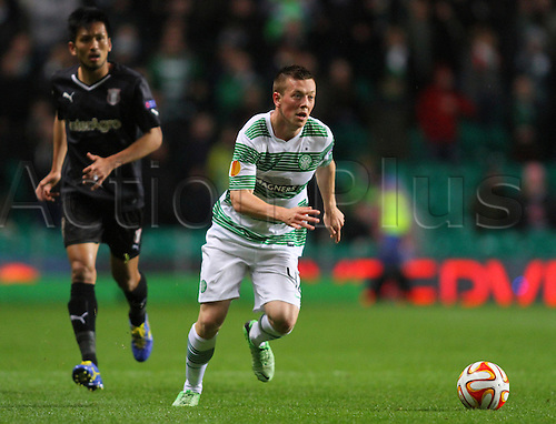 23.10.2014.  Glasgow, Scotland. UEFA Europa League. Celtic versus Astra Giurgiu. Callum McGregor of Celtic