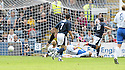 08/08/2009  Copyright  Pic : James Stewart.sct_09_dundee_v_morton  .SEAN HIGGINS SCORES FOR DUNDEE.James Stewart Photography 19 Carronlea Drive, Falkirk. FK2 8DN      Vat Reg No. 607 6932 25.Telephone      : +44 (0)1324 570291 .Mobile              : +44 (0)7721 416997.E-mail  :  jim@jspa.co.uk.If you require further information then contact Jim Stewart on any of the numbers above.........