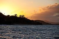 Sunset from Cinnamon Bay<br /> St. John<br /> U.S. Virgin Islands