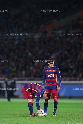 (L-R) Lionel Messi, Neymar (Barcelona), <br /> DECEMBER 20, 2015 - Football / Soccer : <br /> FIFA Club World Cup Japan 2015 <br /> Final match between River Plate 0-3 Barcelona  <br /> at Yokohama International Stadium in Kanagawa, Japan.<br /> (Photo by Yohei Osada/AFLO SPORT)