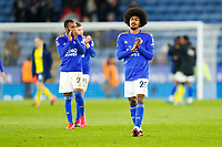 4th March 2020; King Power Stadium, Leicester, Midlands, England; English FA Cup Football, Leicester City versus Birmingham City; Leicester City players applaud the home fans after the final whistle