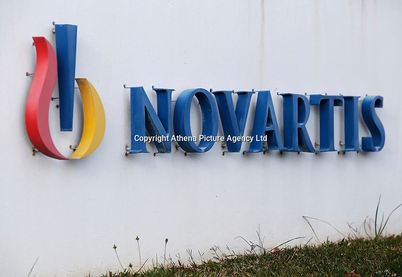 Pictured: The Novartis headquarters in the Metamorfosi area of Athens, Greece.<br /> Re: Prosecutors have named eight former ministers and two former prime ministers in connection with a major corruption investigation involving Novartis in Greece.<br /> Investigators allege the pharmaceutical company paid doctors to prescribe its drugs at high prices.<br /> Prosecutors said the former politicians received bribes, but did not name them.<br /> Those allegedly involved held office from 2006-2015. Novartis said it is cooperating with the investigation.