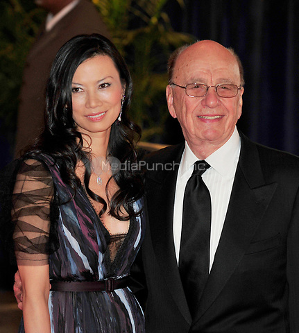 Rupert Murdoch and his wife, Wendi Deng arrive at the Washington Hilton Hotel for the 2010 White House Correspondents Association Annual Dinner in Washington, D.C. on Saturday, May 1, 2010.<br /> Credit: Ron Sachs / CNP<br /> (RESTRICTION: NO New York or New Jersey Newspapers or newspapers within a 75 mile radius of New York City) /MediaPunch