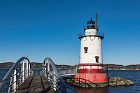 Sleepy Hollow Lighthouse (aka Tarrytown Lighthouse and Kingsland Point Lighthouse, Sleepy Hollow, New York, USA
