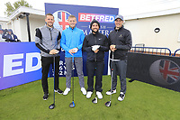 Alexander Levy (FRA) and team during the Hero Pro-am at the Betfred British Masters, Hillside Golf Club, Lancashire, England. 08/05/2019.<br /> Picture Fran Caffrey / Golffile.ie<br /> <br /> All photo usage must carry mandatory copyright credit (© Golffile | Fran Caffrey)