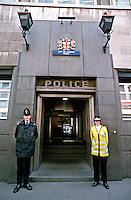 City of London Police Officers on duty outside a police station. This image may only be used to portray the subject in a positive manner..©shoutpictures.com..john@shoutpictures.com