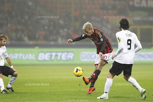 Keisuke Honda (Milan), JANUARY 15, 2014 - Football / Soccer : Coppa Italia (TIM Cup) 5th Round match between AC Milan 3-1 Spezia Calcio at Stadio Giuseppe Meazza in Milano, Italy. (Photo by AFLO)