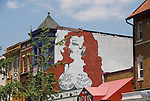 Washington DC; USA: Adams-Morgan neighborhood.  Mural on restaurant Madam's Organ in Adams-Morgan district, near 18th and Kalorama.  .Photo copyright Lee Foster Photo # 22-washdc82313