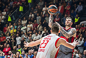 9th February 2018, Aleksandar Nikolic Hall, Belgrade, Serbia; Euroleague Basketball, Crvenz Zvezda mts Belgrade versus AX Armani Exchange Olimpia Milan; Forward Vladimir Micov of AX Armani Exchange Olimpia Milan shoots on the basket