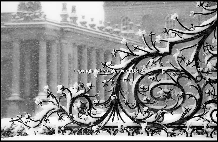 BNPS.co.uk (01202 558833)Pic: PeterSeaward/BNPS.<br /> <br /> Classical snowstorm - Photographer Peter Seaward captured thses classic shots of the snow storm at Blenheim Palace in Oxfordshire yesterday.
