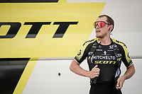 Matteo TRENTIN (ITA/Mitchelton-Scott) warming up for Stage 5 (ITT): Barbentane to Barbentane (25km)<br /> 77th Paris - Nice 2019 (2.UWT)<br /> <br /> ©kramon