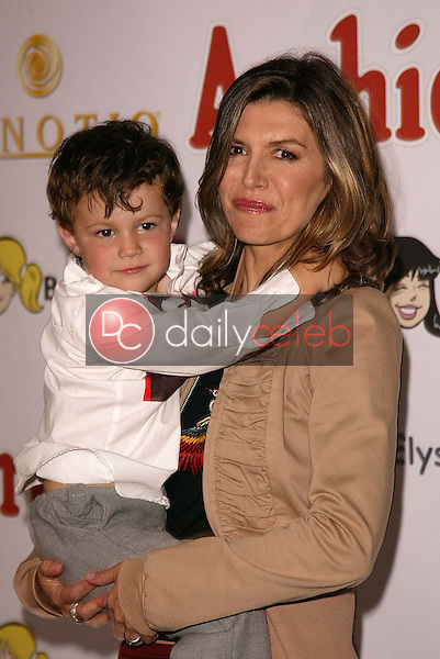 Finola Hughes and son Dylan