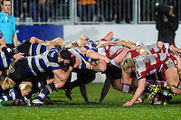 A general view of a scrum. Anglo-Welsh Cup match, between Bath Rugby and Gloucester Rugby on January 27, 2017 at the Recreation Ground in Bath, England. Photo by: Patrick Khachfe / Onside Images