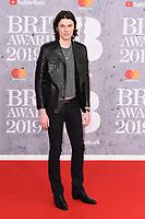 James Bay<br /> arriving for the BRIT Awards 2019 at the O2 Arena, London<br /> <br /> ©Ash Knotek  D3482  20/02/2019<br /> <br /> *images for editorial use only*