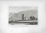 Engravings of Scottish landscapes and buildings from late eighteenth and early nineteenth century, Cross Church, Peebles, Scotland 1790