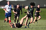 NELSON, NEW ZEALAND - JULY 6: Div 2 Rugby - Huia v Valley Stags at Sport Park, Motueka. 6 July 2019 in Motueka, New Zealand. (Photo by Chris Symes/Shuttersport Limited)