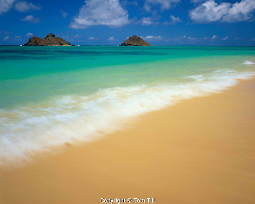 Lanikai Beach, Island of Oahu, Hawaii  Often voted most beautiufl beach in United States