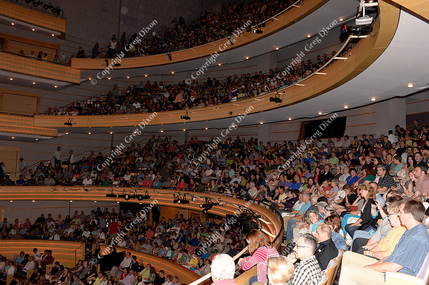 Overture Hall is packed for Wait Wait... Don't Tell Me on Thursday, 6/19/14, in Madison, Wisconsin