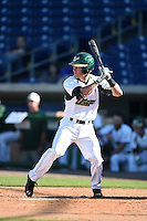 USF Bulls infielder Kyle Teaf (3) at bat during a game against the Alabama State Hornets on February 15, 2015 at Bright House Field in Clearwater, Florida.  USF defeated Alabama State 12-4.  (Mike Janes/Four Seam Images)
