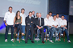 01.06.2012. Telecinco presents its official schedule for the transmission of Eurocup 2012 to the Ciudad del Futbol of Las Rozas, Madrid. In the image Telecinco technical team (Alterphotos/Marta Gonzalez)