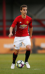 Luca Ercolani of Manchester Utd during the U18 Premier League Merit Group A match at The J Davidson Stadium, Altrincham. Date 12th May 2017. Picture credit should read: Simon Bellis/Sportimage