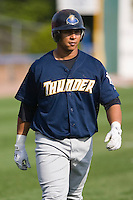 Jose Tabata (57) of the Trenton Thunder during batting practice at Dodd Stadium in Norwich, CT, Tuesday, June 3, 2008.
