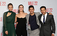 "WESTWOOD, CA - AUGUST 9: Lauren Cohan, Ronda Rousey, Iko Uwais, Carlo Alban, at Premiere Of STX Films' ""Mile 22"" at The Regency Village Theatre in Westwood, California on August 9, 2018. Credit: Faye Sadou/MediaPunch"