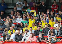 Brazil supporters turned up and was in fine voice during the International match between England U20 and Brazil U20 at the Aggborough Stadium, Kidderminster, England on 4 September 2016. Photo by Andy Rowland / PRiME Media Images.